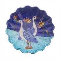Handmade Blue Pottery Plate