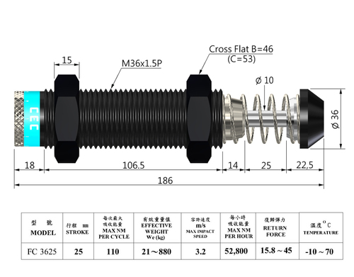 FC 3625 Shock Absorber