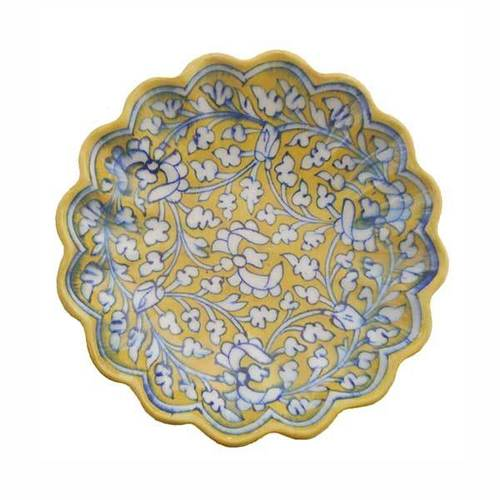 Hand Painted Blue Pottery Plate