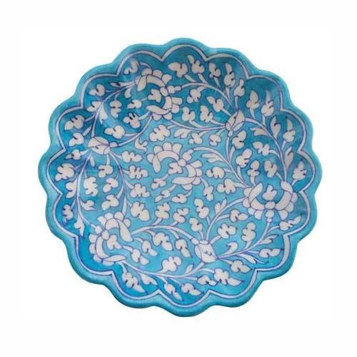 Blue Pottery Plate