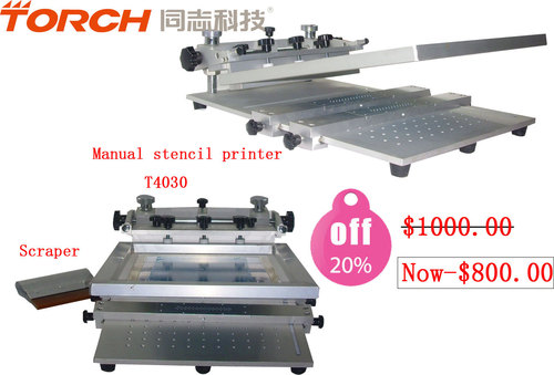 Manual mini high precision screen printer T4030 in electric industry for SMT