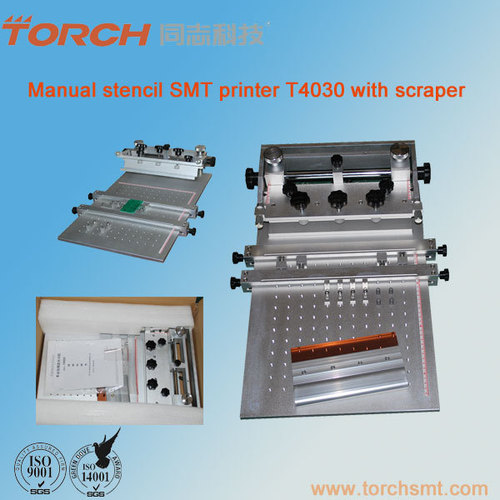 Manual desk mini soder paste screen printer for SMT T4030
