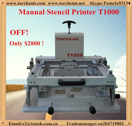 Manual desk mini soder paste screen printer for SMT T1000