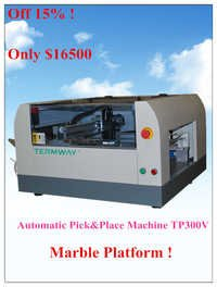 Automatic pick and place machine TP300V in electric industry for SMT production