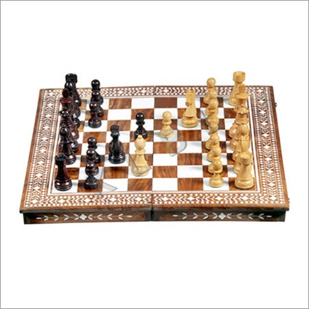 Wooden inlaid Chess