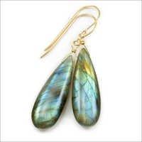 Labradorite Gemstone Earring-  Vermeil Gold