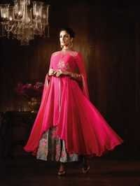 Pink Exclusive Wedding Wear Anarkali Suit