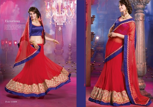 Attractive Saree Lehenga