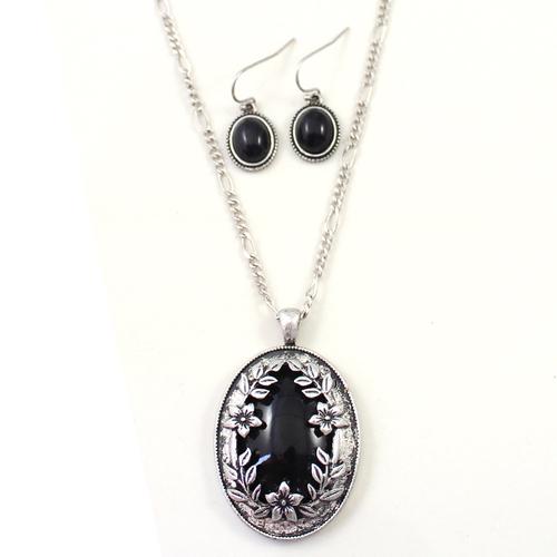 gemstone pendant set