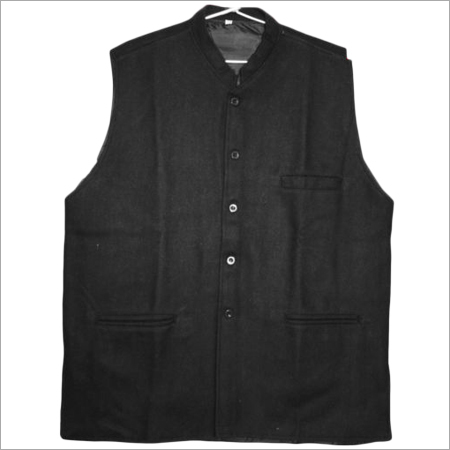 Solid Black Nehru Jacket