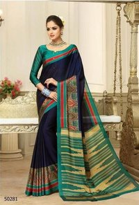 Exclusive Printed Bangalori Silk Saree