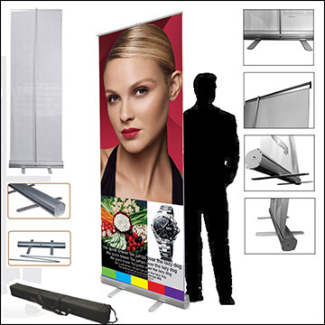 Roller up banner stand-Hires