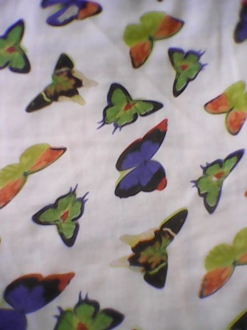 Printed American Crape Fabrics
