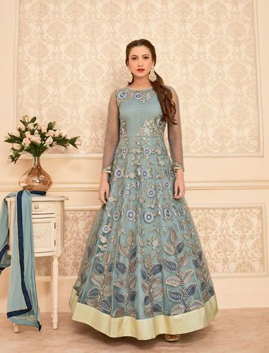 Grey Gauhar Khan Wedding Wear Suit