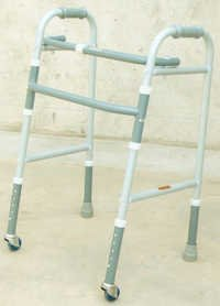 WALK-AID, Adjustable Height & Foldable Frame with 2 wheels:
