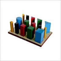 MULTI SHAPED PEG BOARD (Round, Square & Triangular):
