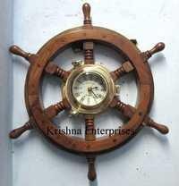 Wooden Wheel Stylish Clock