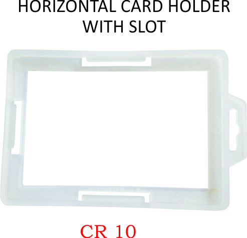 HORIZONTAL CARD HOLDER WITH SLOT