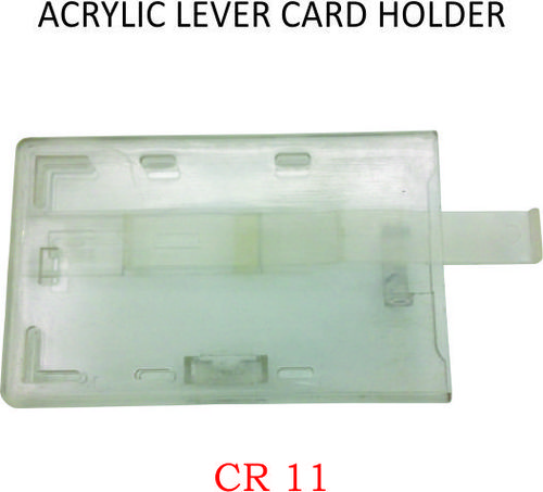 ACRYLIC LEVER CARD HOLDER