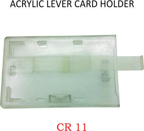 ACRYLIC LEVER CARD HOLDER