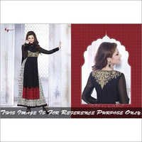 Black Heavy work anarkali