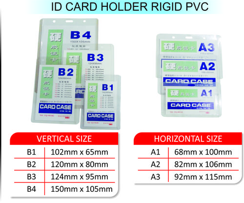 ID CARD HOLDER RIGID PVC