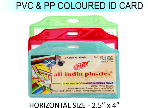 PVC & PP COLOURED ID CARD