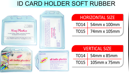 ID CARD HOLDER SOFT RUBBER - ID CARD HOLDER SOFT RUBBER