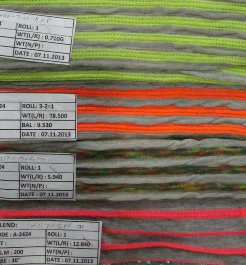 poly cotton flourasent stripe