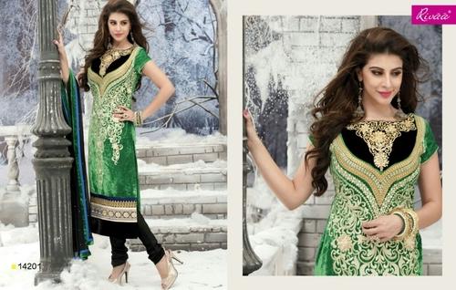 Green velvet heavy design
