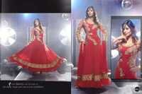 Red Desgner Anarkali
