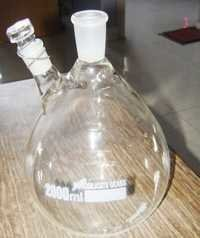Two necks round bottom flask