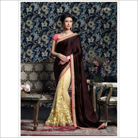 Satin designer sarees
