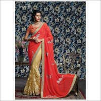Crush georgette saree