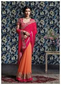 Gota Zari work saree
