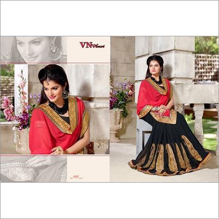 Lehenga style heavy work sarees