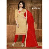 Cream chanderi suit