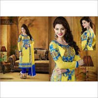 Yellow with blue Design