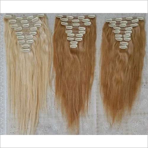 Clip in Straight Raw Blonde Hair