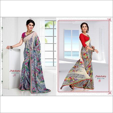 Printed Lace Sarees