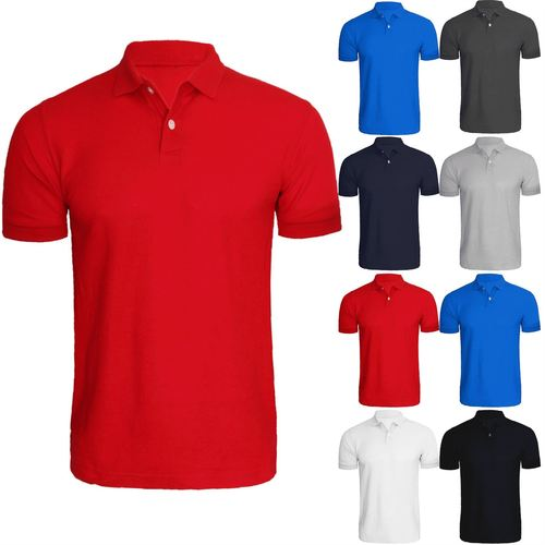 Polo Plain Collar T Shirts