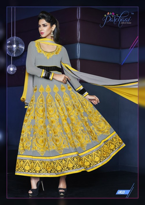Traditional Flaired Anarkali Dress