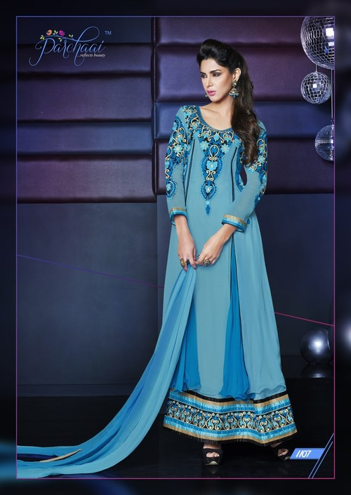Asymeertric layere Classic Anarkali Dress