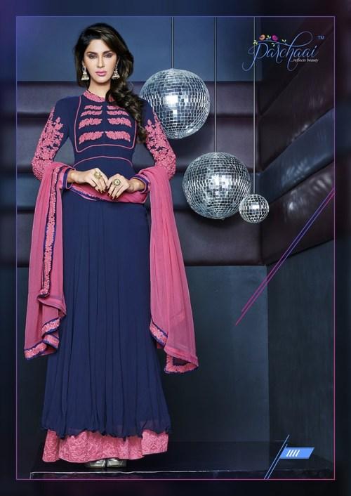 BeautiFul Mumline layered Hemline Anarkali Dress