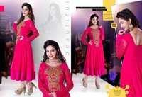 Pink Designer work Gowns