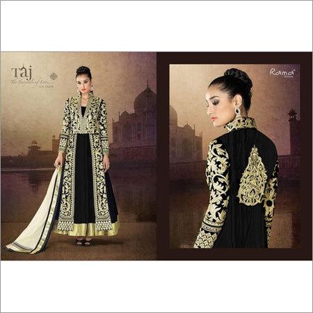 Khatli work Stylish Anarkali Suit