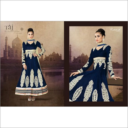 Dimond Work Butta Patched Anarkali Suit