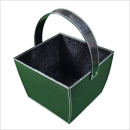 Leather Magazine Baskets