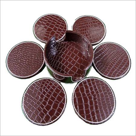 Leather Round Coasters