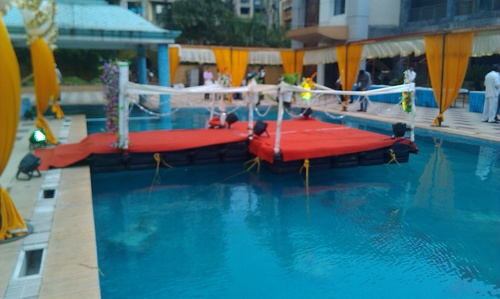 Floating platform on rental basis for events